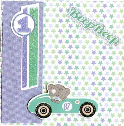 Me To You - Tiny Tatty Teddy Boy - 6 x 6 Paper Pack, Polaroid Frames & A4 Sticker Sheet