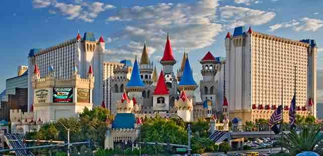 The Excalibur Hotel in Las Vegas is a castle themed resort and casino