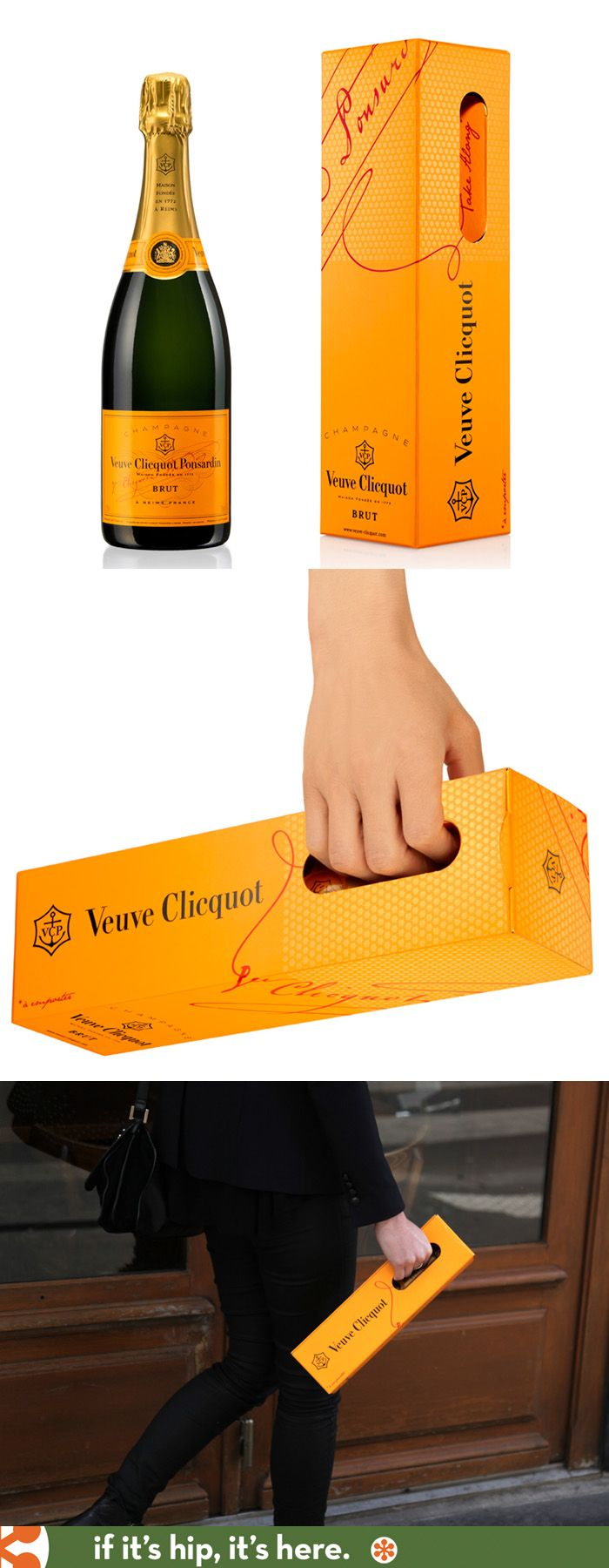 "Veuve Clicquot ""Take Along"" package design by 5.5 Designers"