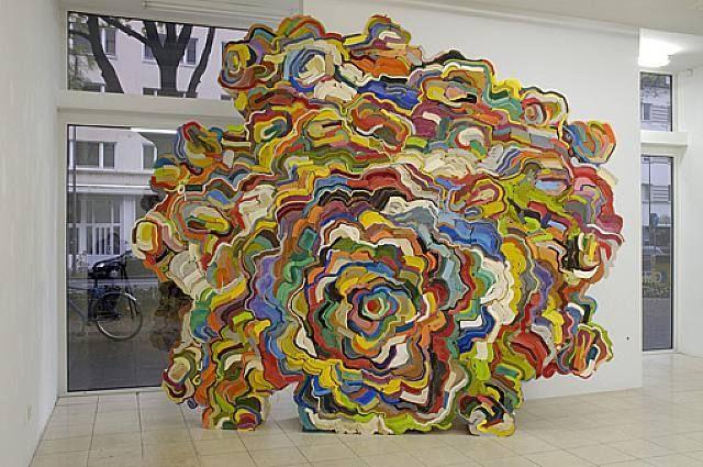 stacked books sculpture: Jonathan Callan.
