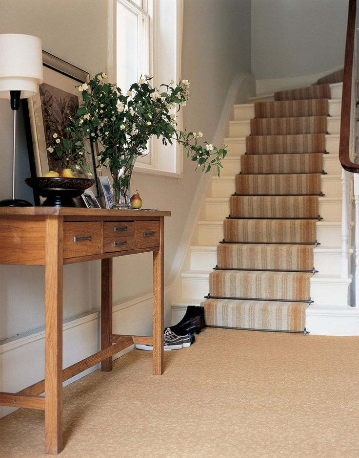 Chatsworth Stair Rods In Pewter. Shown With A Brintons Carpet.