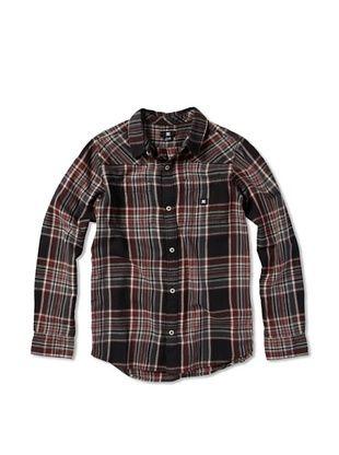 71% OFF DC Boy's Plaid Button-Up (Black Plaid)
