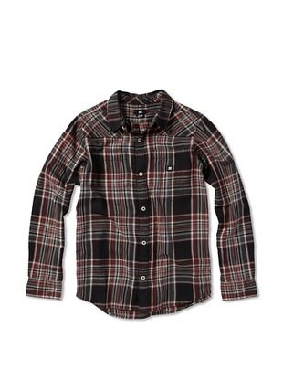 71% OFF DC Boy's Plaid Button-Up (Black Plaid)