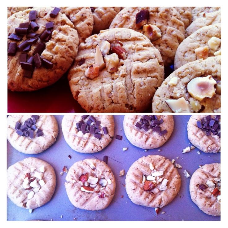 GF gingernut cookies (chocolate and almonds)