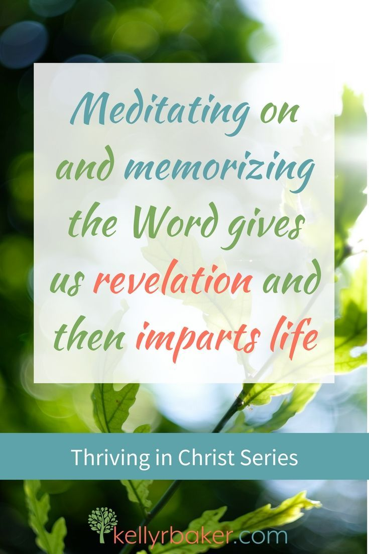 Meditating on and memorizing the Word gives us revelation and then imparts life. #thrivinginchrist #thrive #spiritualgrowth #spiritualmaturity #quote #growing