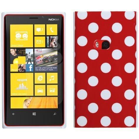 MYBAT Candy Skin TPU Case for Nokia Lumia 920 - Red Polka Dots