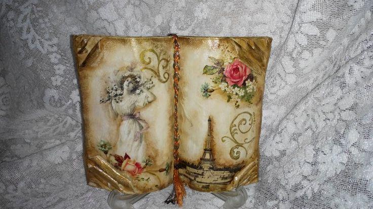 Decoupage book  tutorial !