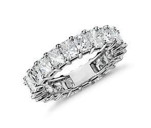 Love that lasts an eternity.  The Radiant Cut Diamond Eternity Ring in Platinum (5.00 ct. tw.). #bluenile