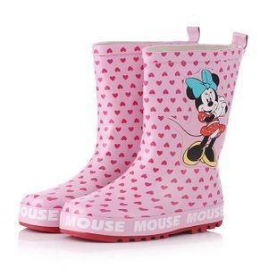 Aliexpress.com: Comprar Niños 2013New punto Pink ratón botas de lluvia de goma estampados zapatos de la lluvia de los niños para el agua de la moda niñas prueba mayor antideslizante de zapato de cuero fiable proveedores en Indoor & Outdoor