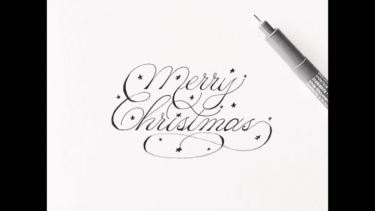 how to write merry christmas   cursive fancy letters for beginners - YouTube