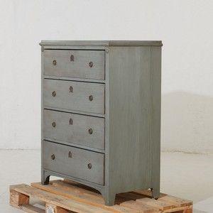 BYRÅ, omkring 1900, gustaviansk stil, bemålad, 4 lådor, höjd 112, 92x47 cm