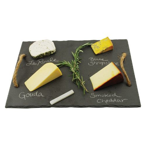 Bring home the wine country feel and throw your own wine and cheese party! Hosting has never been so ease with the Vintage & Vine Slate Board; the slate is a beautiful display for hors d'oeuvre, the s