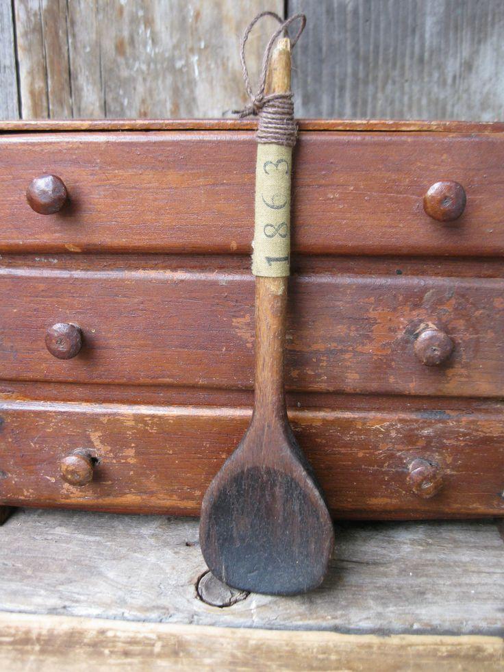wwwcatspawprimitivesblogspotcom 23 best Antique Wooden Spoons images