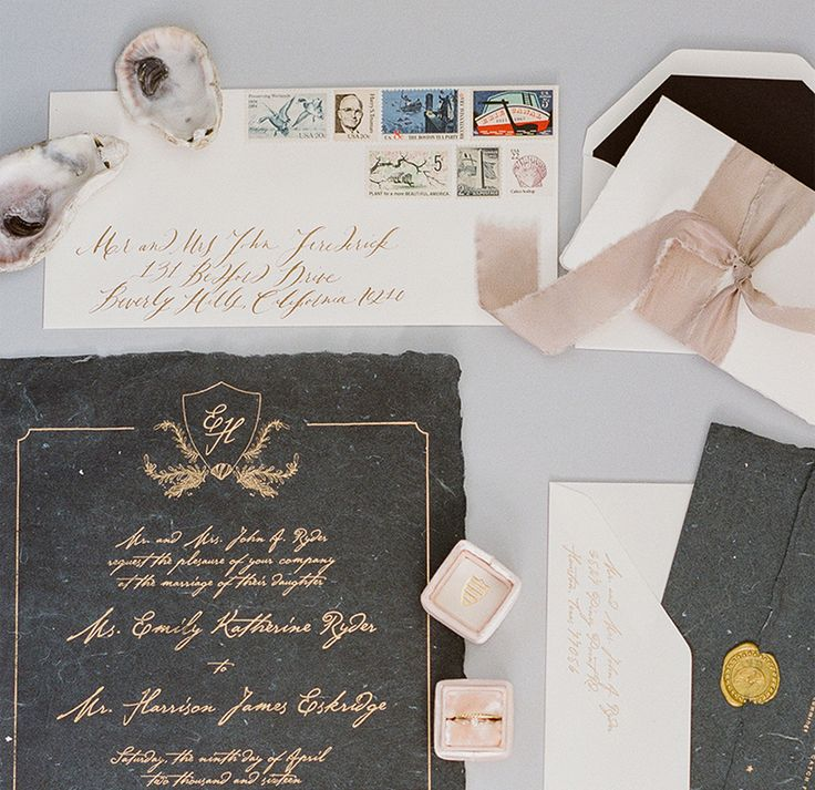Best Wedding Invitations of 2016 Romantic Shipwreck Inspired