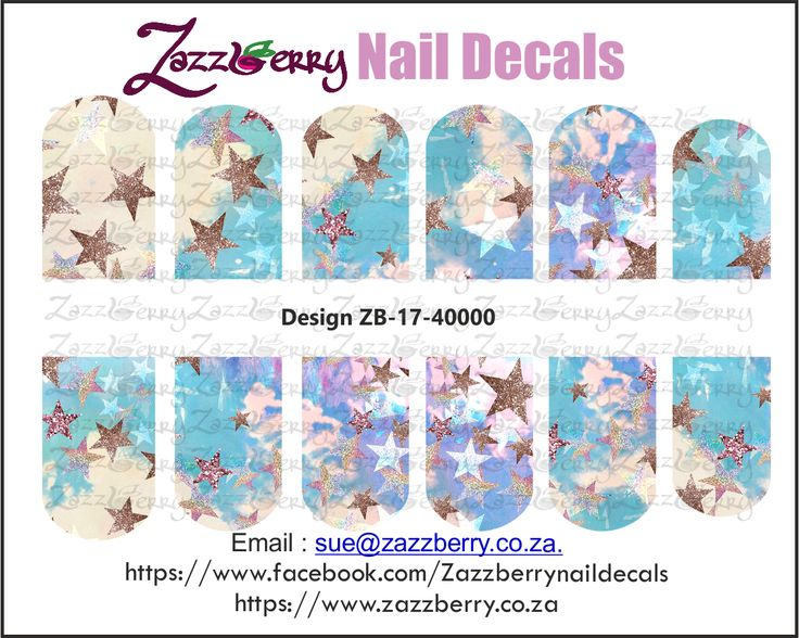Stary Sky Nail Decals, R48.00