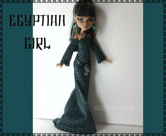 MONSTER HIGH Egypt Doll Clothes Handmade Custom by DOLLS4EMMA on Etsy