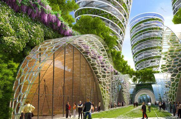 Paris wird grün, die Städte der Zukunft. Urban Gardening und Farming deluxe