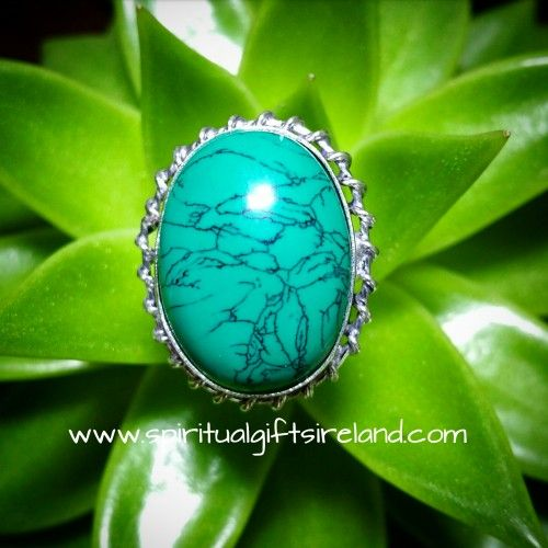 Silver Turquoise Dome Ring