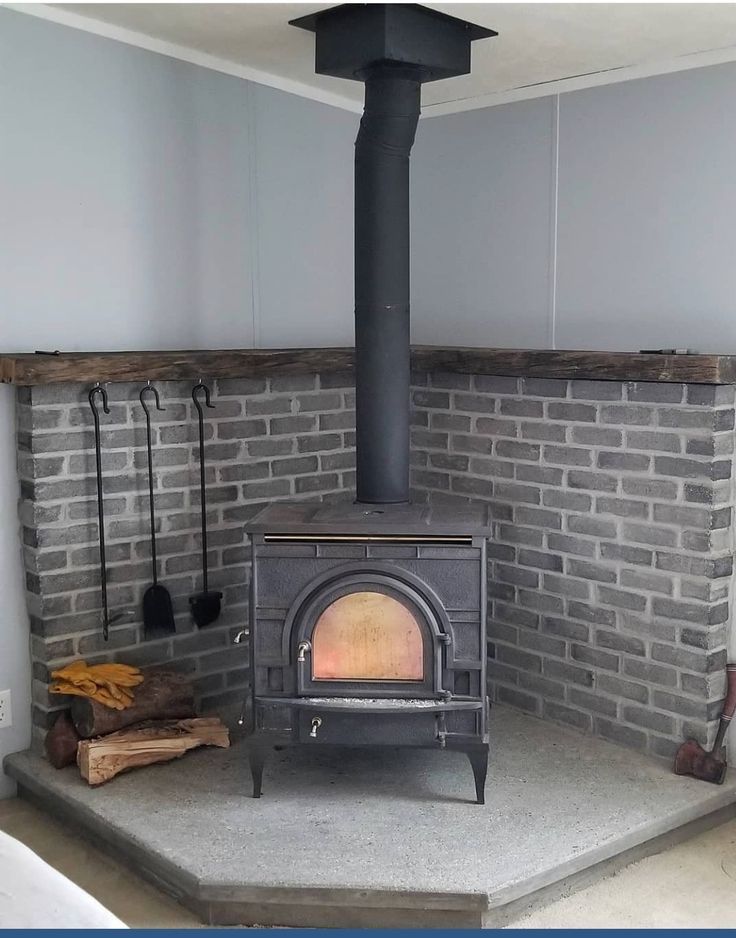Most Recent Photo Wood Stove Makeover Thoughts Wood Stove Wood Stove Fireplace Corner Wood Stove