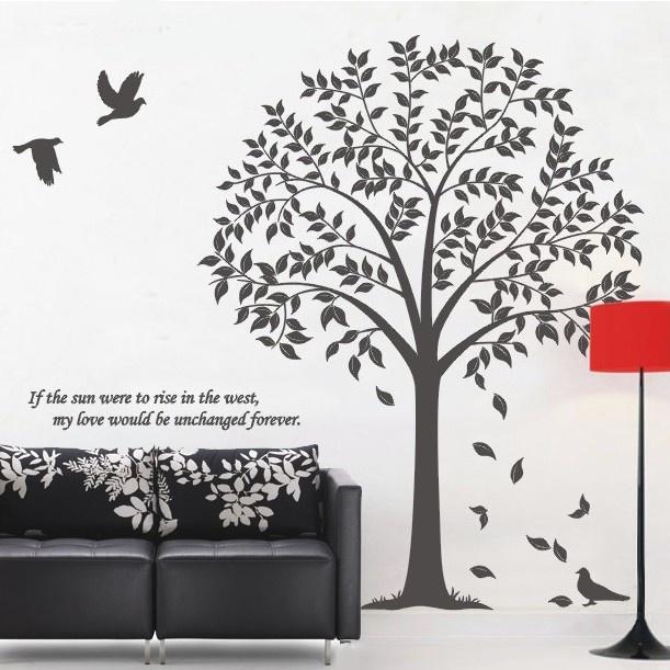Linden Tree - Birds - Wall Decals Stickers