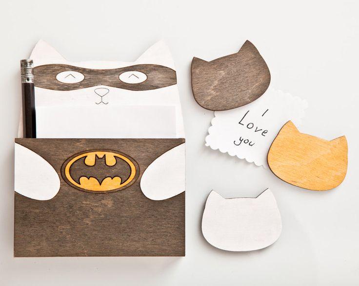 magnete cucina gatto, Batman di JuliaWine su DaWanda.com