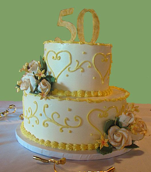 50th wedding anniversary party ideas   50th Anniversary Cakes Pictures 264x300
