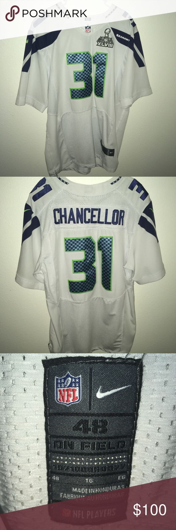 Seahawks Kam Chancellor Super Bowl Jersey Worn Once and kept in prestige condition!! No discoloration Nike Other