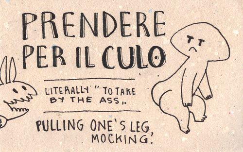 Italian language learning, sketchbook style!