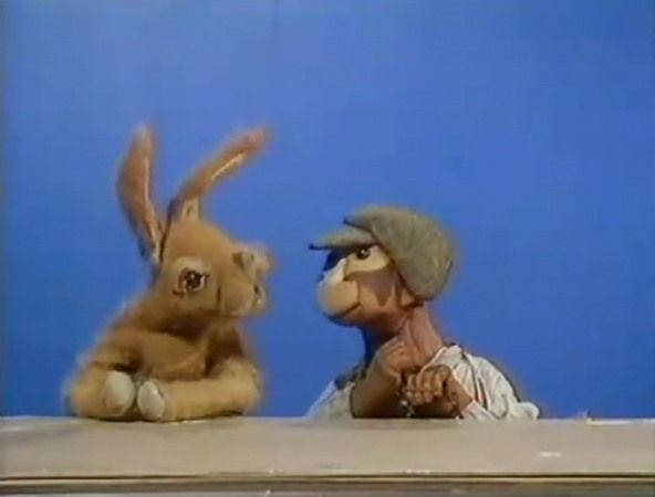 Hartley Hare and Topof the monkey from Pipkins