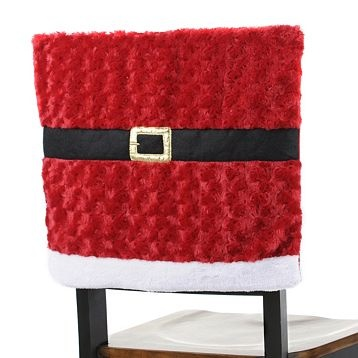 Oh dear..  I see a project coming... Santa Belt Christmas chair cover...cute!