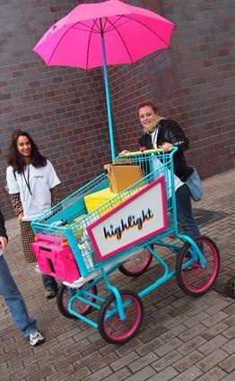 We can afford this one :) Grocery cart food truck. Idea for a parade. K
