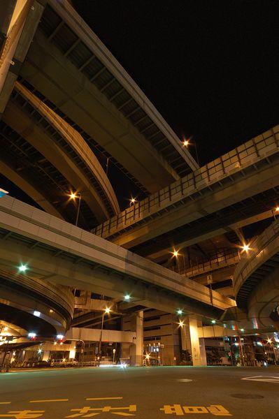 阪神高速道路 3号神戸線 16号大阪港線 阿波座JCT【写真5】