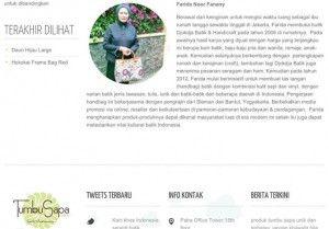 Djokdja Batik Owner's Profile As Featured On TumbuSapa