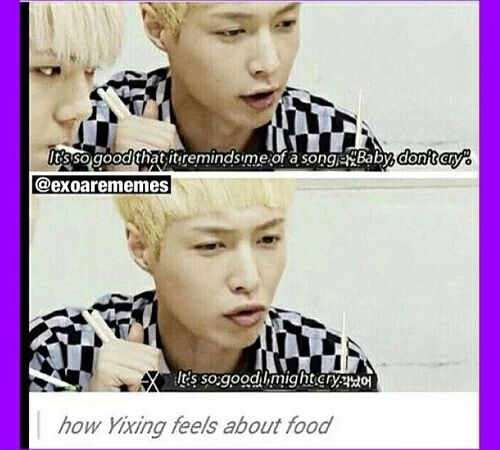 Yixing knows what's up