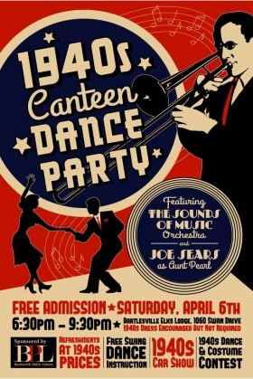 1940 canteens | Image representing the 1940's Canteen Dance Party event in ...