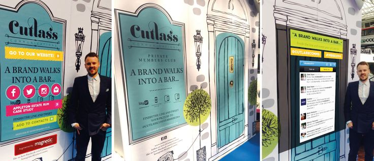 Interactive expo stand / wall that we created for Cutlass Comms for the Imbibe Live 2014 event held in London. #imbibelive #interactivewall #getmagnetised