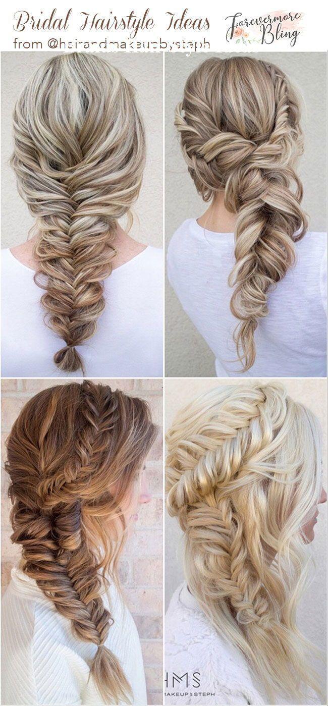 30 Stunning Wedding Hair Styles From Hochzeitsfrisuren Brautzopfe Box Braids Hairstyles