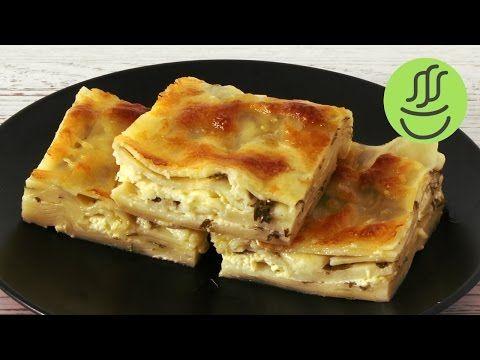 Lazanya Hamurundan Kolay Yalancı Su Böreği - Peynirli Su Böreği Tarifi - Mayadanozlu Peynirli Börek - YouTube
