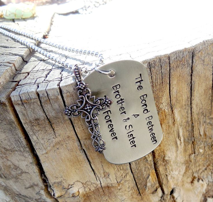 Brother Sister Dog Tag Necklace Bond Between A Brother And