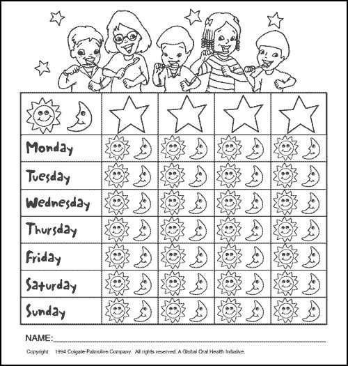 20 best Printable Brushing Charts for Kids images on
