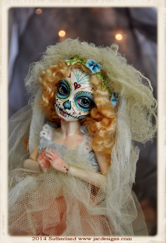 SUGAR SKULL DAY OF THE DEAD BJD DOLL SUTHERLAND by SutherlandArt.deviantart.com on @deviantART