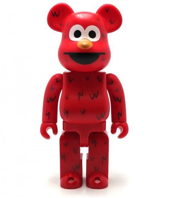 100% Bearbrick Elmo Sesame Street
