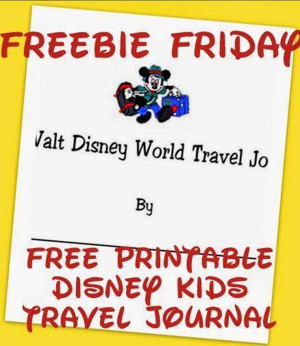 Free Printable Disney World or Disneyland kids travel