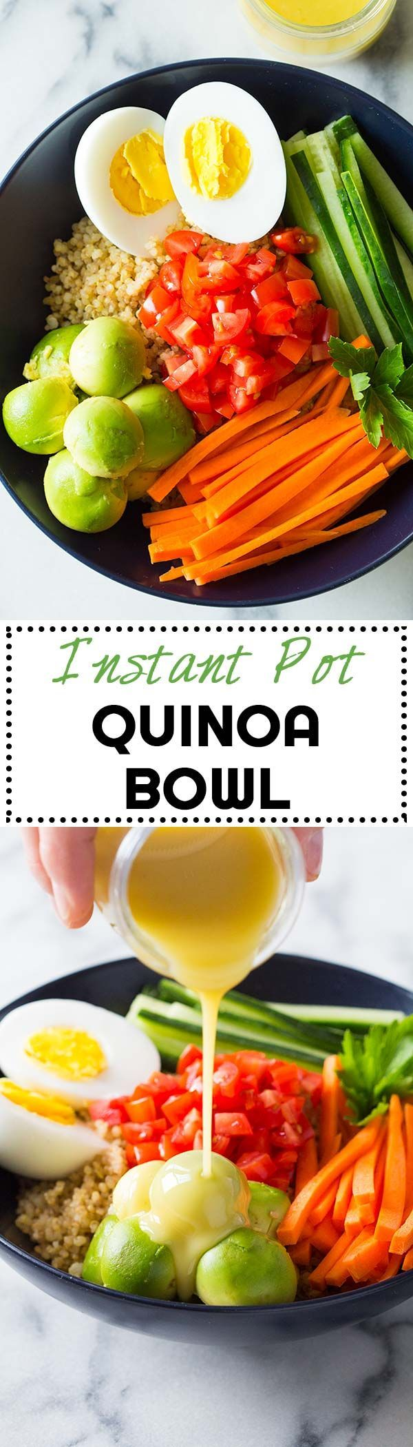 I am IN LOVE with my Instant Pot. Who knew this could be a thing. I really am though. Instant Pot Quinoa is the best quinoa you've ever tried! via @greenhealthycoo