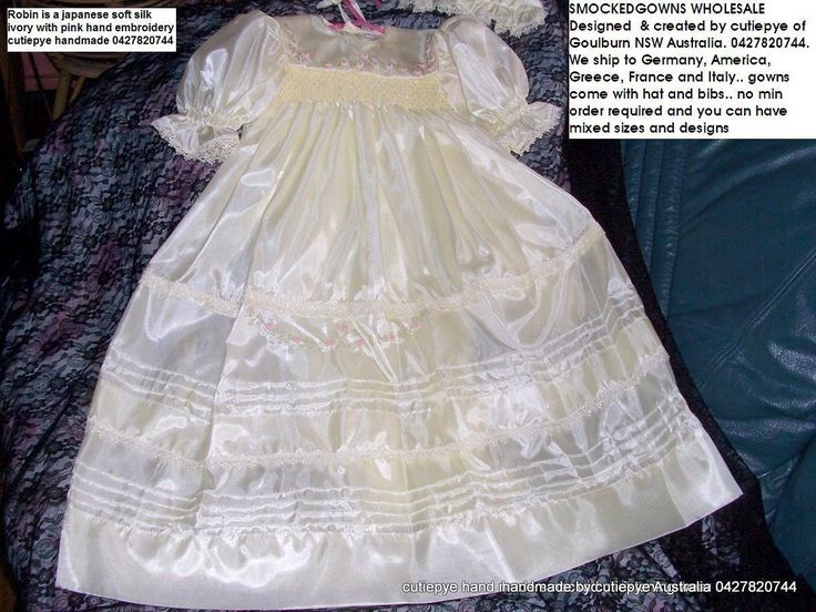 soft japanese silk heirloom Robin is sought after gown it is lined and comes with bib and nhat 0427820744