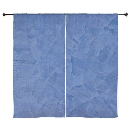 """60"""" Curtains on CafePress.com. Tuscan Blue Home Decor Faux Finishes #forthehome #home #curtains #homedecor"""
