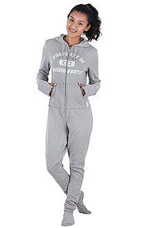Women's Hoodie-FootiesTM, Footie PJs for Women, Footed Pajamas | PajamaGram