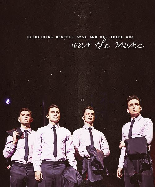 """Everything dropped away and all there was, was the music..."" Jersey Boys :)"