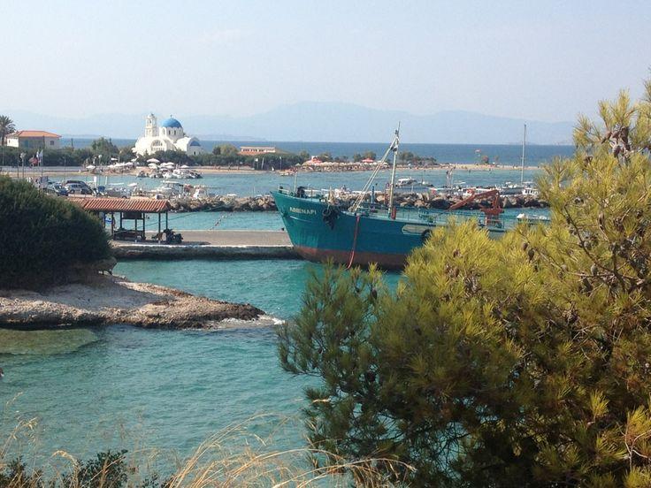 Λιμάνι Σκάλας (Skala port) στην πόλη Αγκίστρι, Αττική