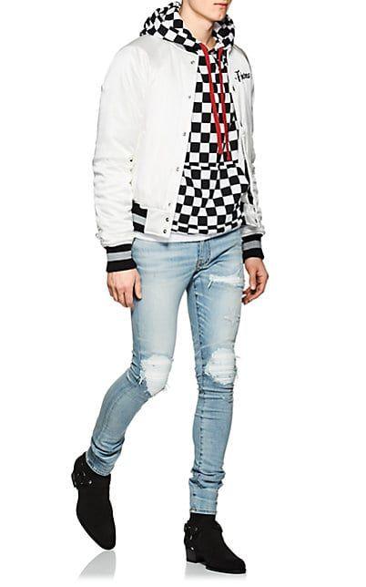 4d70d6f0fc3320 AMIRI MX1 Leather-Inset Slim Jeans - Jeans - 505486734 | Amiri in ...